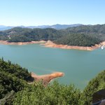 lake shasta from above