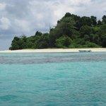Första anblicken av den ö vi skulle visstat på.