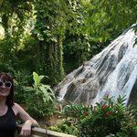 me( Danuta Rogula) and waterfall