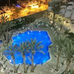 Pool are view from room