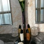 toiletries in the shape of the Etihad Towers