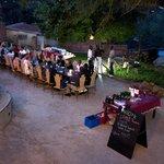 Dinner reception at the hostel