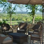 Patio Dining with views over the Evenlode Valley