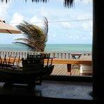 Vista do praia, durante o almoço no Hotel.