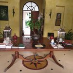 The table with antiques