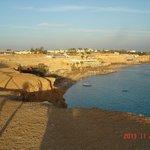 Вид со скалы на пляж Эль Фанар (Маяк)