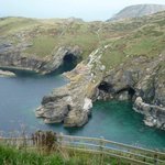 Awesome view out of Tintagel Castle in Cornwall