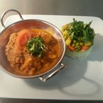 Mushroom and chickpea bhuna balti with Gujerati Biryani rice....