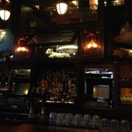 The bar area of The Breslin-eclectic and dark!
