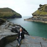 Boscastle channel and beautiful rock formations