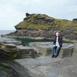 The sea and cliffs in Boscastle