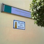 Plaza del Reloj - and a school