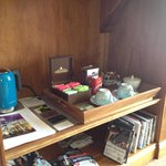 Selection of teas and coffee in your room
