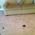 Nasty sofa in the lobby