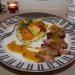 Le plat viande du repas gastronomique