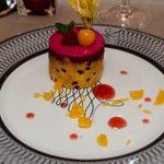 Dessert du repas gastronomique