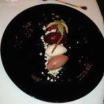 Blackberry, Lychee and Pear sorbet (dessert)