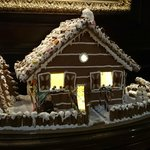 Gingerbread House decorating one of the lobbies