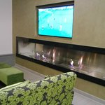 Football match and the fireplace