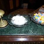 sweets at the reception desk ( I ate all the lokum)