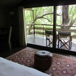 Our room with a nice veranda where you could watch animals from