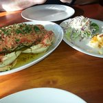 Dungeness crab with scalloped potatoes