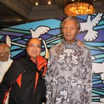 With the late Honorable Nelson Mandela