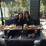 Kroya -The restaurant. We sat on the SWING..!