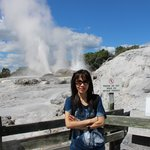Fortunately my wife did not enter the geyser terrace :-)
