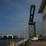 Finnieston Crane overlooking Hotel and River Clyde
