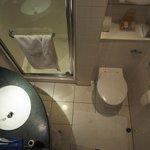 You couldn't get a smaller bathroom