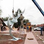 Lee Blackwell sculpture installation - Jan. 2014