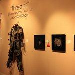 """Threads"" fiber art exhibit - October 2013"