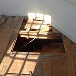 The hatch entrance of the cupola