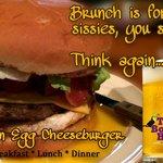 Bacon Cheeseburger with an Egg!