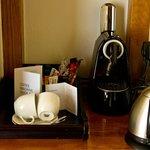 Café e chá de cortesia.