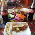 5 Tacos and two cokes $11.75! Was a great cheap lunch
