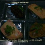 Le foie gras en 3 façons