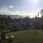What a fantastic view from the garden where we had breaky and smoked some locally caught mackera