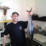 Pesca fresca en el sushi de Holbox