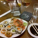 Sushi in the lounge