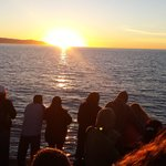 Waiting for the whale while the sun sets. ...