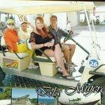 Golf carts at Isle Mujeres