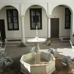 patios inside the hotel