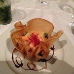 Tulipe et cocktail de crevettes