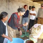 This was a visit to a tlayudo maker, in which we were encouraged to try the tortilla making.