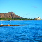 This is a picture of the hotel from Waikiki beach