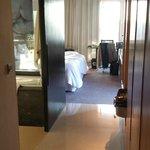 Hall to bathroom and bedroom