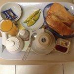 Desayuno al cuarto