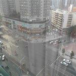 9th floor room, looking down on the busy street below